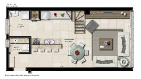apartamento 401- pavimento inferior