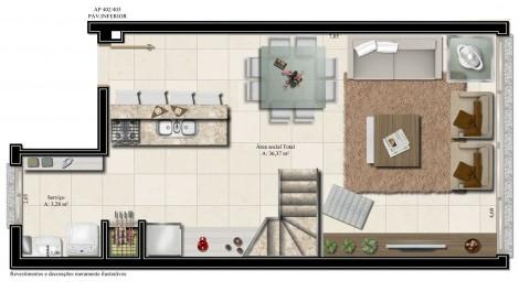 apartamento 402 - pavimento inferior